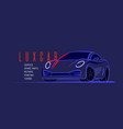 auto sports car design vehicle line style vector image vector image