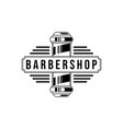 barber shop vintage logo isolated on a white vector image vector image
