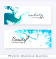 beauty spa care salon cosmetologist logo design vector image