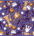 bowling game seamless pattern vector image