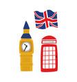 british symbols icon set vector image vector image