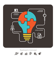 Business Teamwork Concept with lightbulb icon vector image vector image