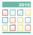 Calendar 2015 year with rectangles vector image vector image