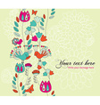 Card for your text with a Seamless Vertical Border vector image