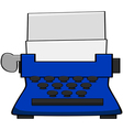 Cartoon typewriter vector image vector image