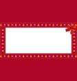 christmas or new year rectangle border frame with vector image