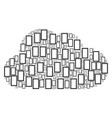 cloud shape of contour rectangle icons vector image vector image
