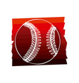 color background with baseball ball in white vector image