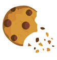 cookie broken vector image