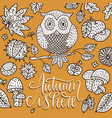 cozy fall autumn card vector image vector image