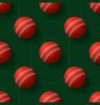 cricket ball seamless pettern realistic cricket vector image vector image
