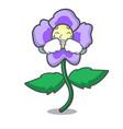 crying pansy flower mascot cartoon vector image