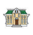 Cute colored doodle house vector image vector image