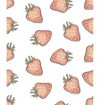 cute seamless strawberry pattern in vector image vector image