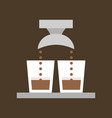 double shot of espresso vector image vector image