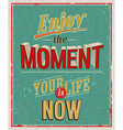 enjoy moment vector image vector image