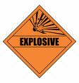 explosion hazard sign vector image vector image
