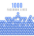 facebook likes 1k image vector image vector image