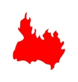 Fire red silhouette vector image vector image