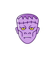 frankenstein icon zombie symbol halloween icon vector image