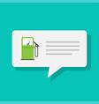 gas petrol fuel station refilling notice info app vector image