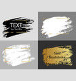 gold white and black paint stroke with border vector image vector image