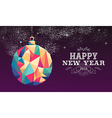 Happy new year 2016 bauble triangle hipster color vector image vector image