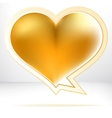 Heart shaped gold speech bubble EPS8 vector image vector image