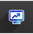 High-quality laptop screen with the Dollar Economy vector image vector image