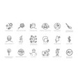 large assortment coronavirus sketched icons vector image