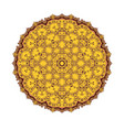 mandala round ornament patter vector image