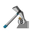 mining bitcoins symbol vector image vector image
