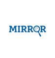 mirror-logo vector image vector image