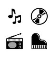 music simple related icons vector image vector image