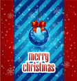 New year Greeting Card christmas vector image vector image