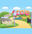 park zoo concept background cartoon style vector image