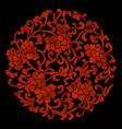 peony flowers vector image