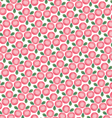 pink rose clusters vector image vector image