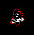 Pirate logo vector image