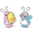 potbelly piggies easter bunnies vector image