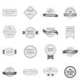 Premium quality label icons set vector image vector image