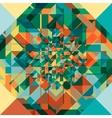 Retro geometric pattern vector image vector image