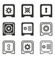 Safe icon set vector image vector image