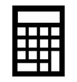 school calculator icon simple style vector image
