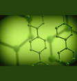 science background with molecules vector image vector image