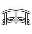 small wood bridge icon outline style vector image vector image