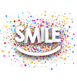 Smile paper background vector image