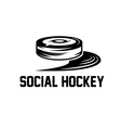 social hockey design template vector image vector image