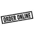 square grunge black order online stamp vector image vector image