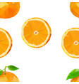 summer pattern with oranges flowers and vector image